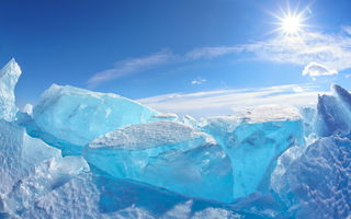 Обои ice, snow, север, iceberg, winter, north, sun, лед, айсберг