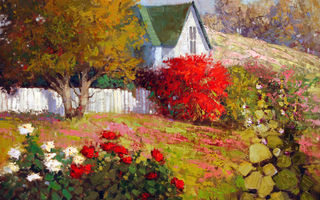 Обои Sean Wallis, арт, Country Spring