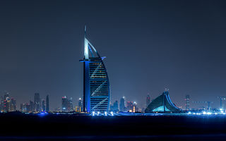 Обои dubai, night, city, united arab emirates, lights