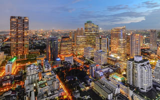 Обои bangkok, twilight, city, thailand