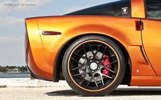 Картинка Chevrolet, корвет, шевроле, 360 three sixty forged, Corvette, оранжевый, orange, Z06