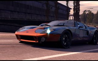 Обои Need for Speed Undercover, город, гонка, классика, Ford GT40
