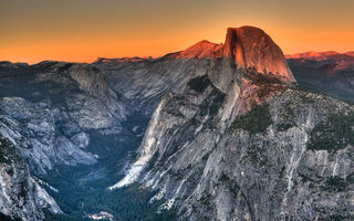 Обои Yosemite National Park, горы, пейзаж, панорама