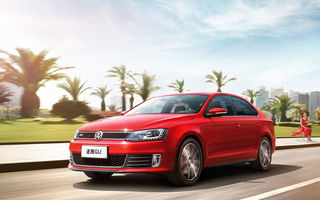 Обои Volkswagen, road, Sagitar, car, red, GLI, speed
