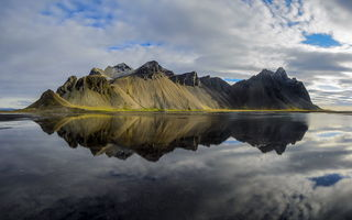 Картинка Mountain, Iceland, Reflection