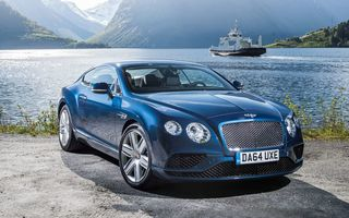 Картинка 2015, континенталь, бентли, Bentley, Continental, GT, V8, синий