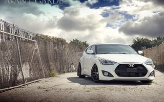 Обои Hyundai Veloster Turbo, white, agwheels