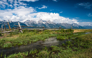 Обои Grand Teton National Park, природа, горы, ручей