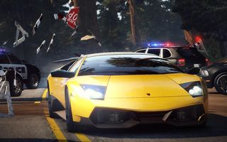 Обои Автомобиль, Lamborghini, hot pursuit, need for speed, копы, заслон