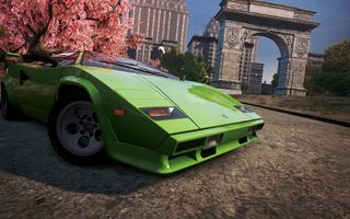 Обои need for speed most wanted 2012, город, Lamborghini Countach, классика, спорткар, ракурс