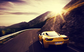 Обои ferrari, yellow, car, 458 italia