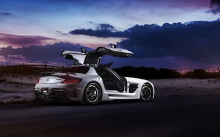 Обои mercedes sls, black series, renntech