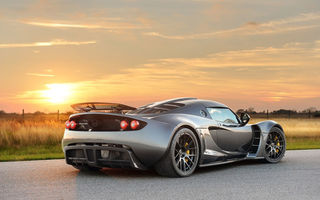 Обои закат, 2012, sunset, gt, dark knight, дорога, venom, hennessey, road