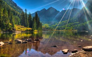 Обои usa, colorado, колорадо, maroon lake, maroon bells