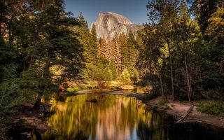 Обои природа, yosemite national park, сша, горы, горная река