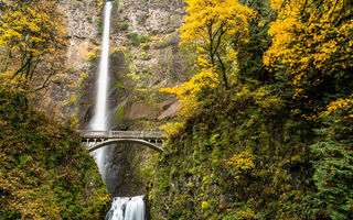 Картинка водопад, oregon, multnomah falls columbia river gorge