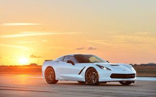Картинка white, twin, stingray, hpe500, chevrolet, corvette, hennessey, шевроле, turbo, стингрей
