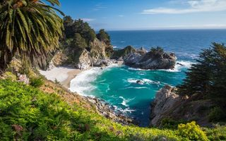 Картинка california, united states, big sur, mcway falls