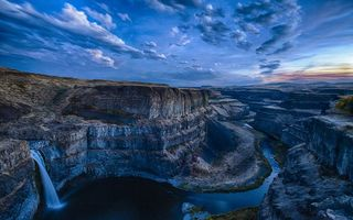 Обои Palouse Falls State Park, Washington, водопад