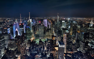Картинка Midtown Manhattan at night, город, New York