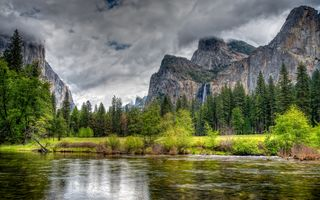 Картинка Yosemite National Park, Штат Калифорния, Merced River