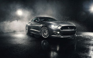 Картинка Ford, Musle, Mustang, 5.0, Watersplash, Silver, GT, Front