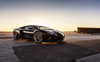 Обои Lamborghini, B-Forged, Wheels, Aventador, Supercar, Black, LP700-4