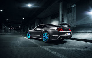 Картинка Ford, Vossen, Mustang, Blue, Roush X, Rear, Wheels