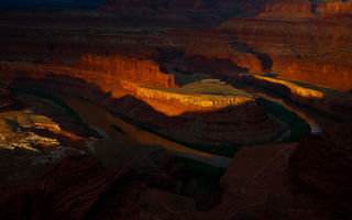 Обои Horseshoe Bend, скалы, Grand Canyon National Park, река Колорадо, природа, каньон, Подкова
