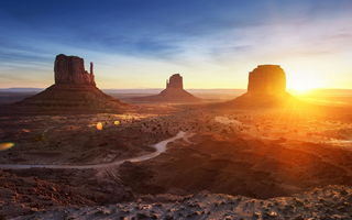 Обои monument valley, пустыня, arizona, долина, горы, landscape, panorama