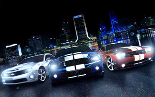 Обои muscle car, ford mustang, Chevrolet Camaro, Dodge Challenger