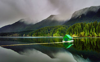 Обои Capilano Lake, North Vancouver, природа, British Columbia, горы, озеро, лес