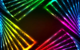 Обои colors, abstract, vector, lights, rainbow