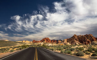Обои State Park, the Valley of Fire, природа, дорога, пустыня, North Las Vegas