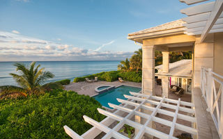 Картинка luxury, coast, home, bahamas, palm, ocean, pool
