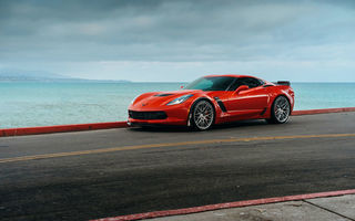 Обои Chevrolet Corvette, Z06, red, car