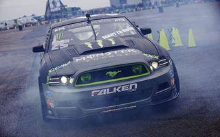 Обои Ford, falken, drift, Gymkhana, Mustang, monster energy