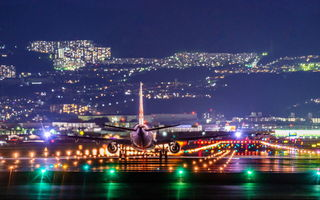 Картинка NightView, Itami Airport, Airplane