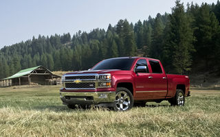 Картинка bed, red, 1500, pickup truck, ranch, Chevrolet Silverado, North America, size, pickup, large, double cab, GM, 2014, truck, chevy