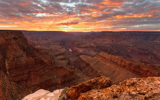 "Обои каньон, скалы, ""Final Seconds of Sunset"", сша, закат, небо, Paul Dekort photo, Grand Canyon"