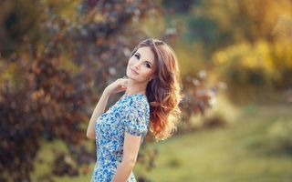 Обои woman, bokeh, lady, beauty, боке, face, женщина