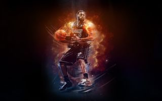 Обои LeBron James, Игрок, Heat, Miami, NBA, Огонь, 6, Basketball, Баскетбол