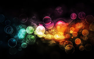 Обои patterns, узоры, circles, краски, боке, абстракция, свет, colors, light, bokeh, круги, 2560x1600, abstraction