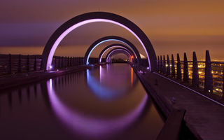 Обои Great Britain, Falkirk, Scotland, ночь, city, огни, United Kingdom, Фалкирк, night, Шотландия, город, Великобритания, lights