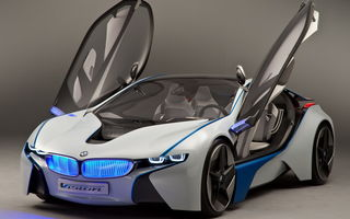 Обои EfficientDunamics, Concept, передок, BMW, прототип, бмв, Vision, концепт