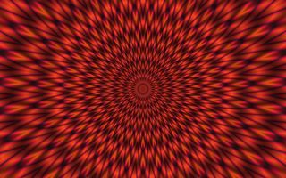 Обои hypnotic, lines, black, red