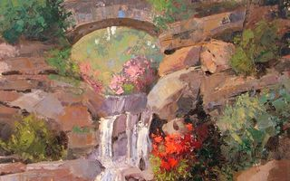 Обои Sean Wallis, Among The Rocks, арт