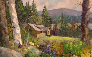 Картинка Sean Wallis, Idaho Cabin Commision, арт