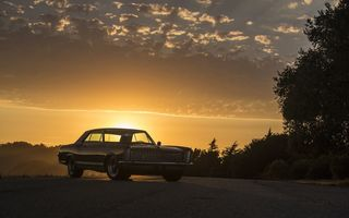 Обои buick, riviera, 1965, sunset