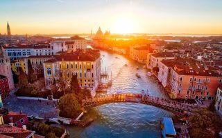 Картинка Italy, Ponte Dell'Accademia, Grand Canal, Venice, sunrise